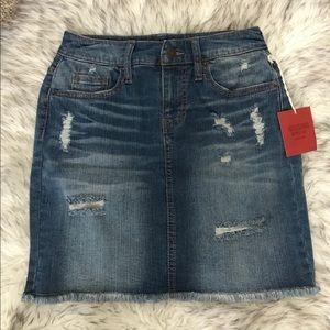 NWT Distressed Jean Skirt